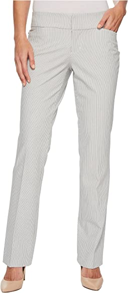 Graham Bootcut Trousers in Ministripe Print in White Ministripe