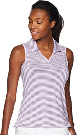 Ultimate 365 Stripe Sleeveless Polo