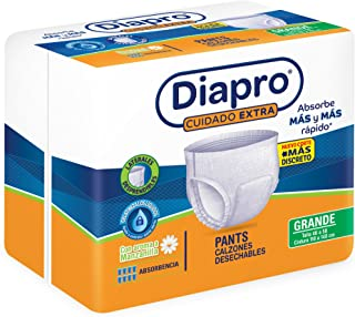 Diapro Pants Calzón Desechable Unisex para Adulto -Grande, 80 pañales