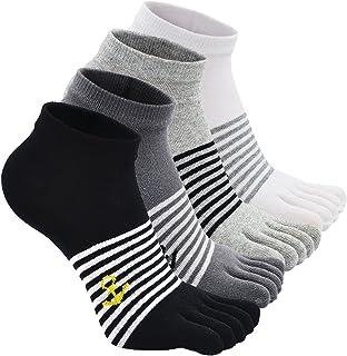 Calcetines de 5 Dedos para Hombres para Deportes Ciclismo Correr, Hombre Calcetines del dedo del pie, Calcetines Dedos de Pies Separados (Multicolor-4 pares)