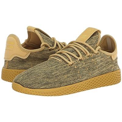 adidas Originals Kids PW Tennis HU J (Big Kid) (Pyrite/Chalk White) Kids Shoes