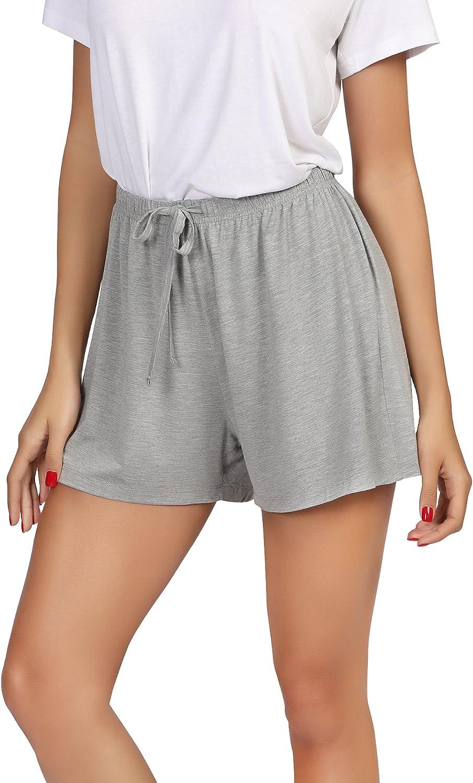 WiWi Bamboo Sleep Shorts for Women Soft Pajama Bottoms Casual Lounge Shorts Plus Size Boxers Sleepwear S-4X