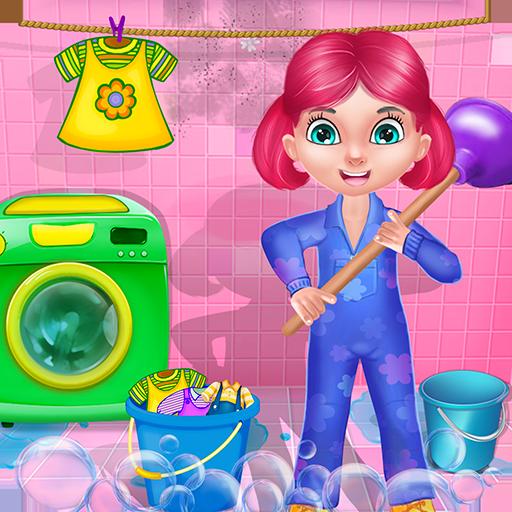 nettoyage de la maison nettoyer la maison : nettoyage jeux et activités dans ce jeu pour les enfants et les filles - GRATUIT