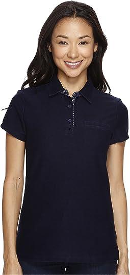 Knit Twill Piping Trim Polo Shirt