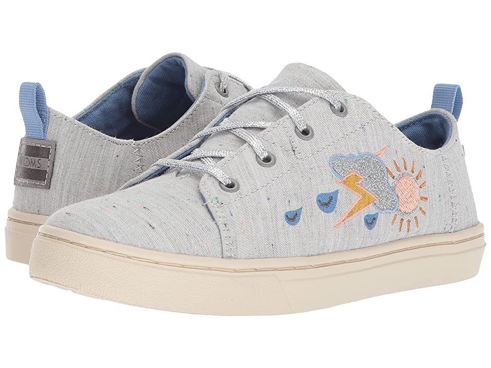 TOMS Kids Lenny (Little Kid/Big Kid) (Grey Multi Drizzly Weather) Girl