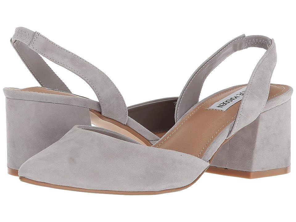 Steve Madden Day Slingback Block Heel (Grey Suede) Women