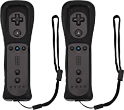 Controle remoto para console Wii U (preto e preto, 2 pacotes)