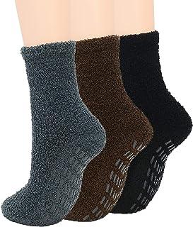 Zando Non-Slip Womens Fuzzy Socks Warm Slipper Socks Non Skid Fluffy Socks Cozy Grip Socks Hospital Socks Winter Plush Soc...