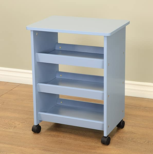 Frenchi Home Furnishing All Purpose Rolling Table Blue