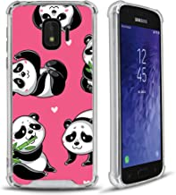 CasesOnDeck Clarity Case Compatible with (Samsung Galaxy J2 Core/ J2 Dash/ J2 Pure/ J2) Crystal Clear Shock Absorption TPU Bumper Hard Back Panel (Pink Panda)