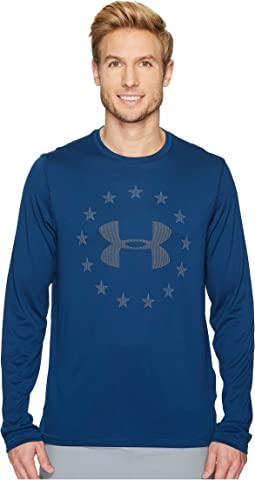 UA Freedom Logo Jacquard Long Sleeve Tee