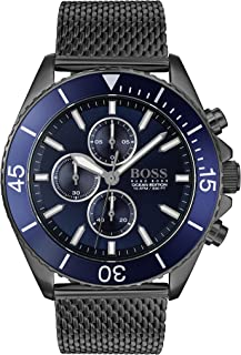 Hugo Boss Mens Grey Quartz Watch, Chronograph Display and Stainless Steel Strap 1513702