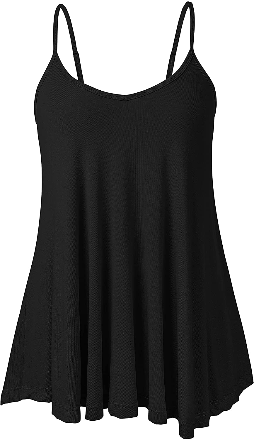 V FOR CITY Flowy Tank Tops for Women Summer Tops Sleeveless V Neck Adjustable Spaghetti Blouses Fashion Casual Pleated Shirts