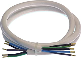 as   Schwabe Herd Anschlussleitung – 1,5 m Kunststoffmantelleitung mit beidseitigen 50 mm abgemantelt mit Adernhülsen – Leitung 400 V, 16 A für den Innenbereich – IP20 – Weiß I 70867, 230 V