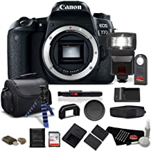 Canon EOS 77D DSLR Camera (Body Only) 24.2 MP CMOS - Pro Bundle - International Version