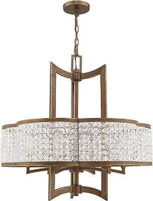 Livex Lighting 50576 64 Gramercy 6 Light Chandelier Hand Painted Palacial Bronze Amazon Com