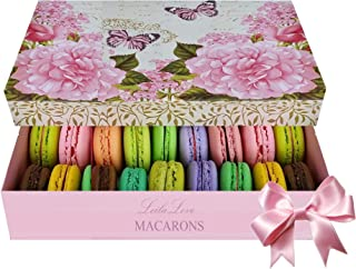 LeilaLove Macarons 25 Macarons with 15 flavors beautifully gift wrapped ready for gifting perfect for the perfect moms