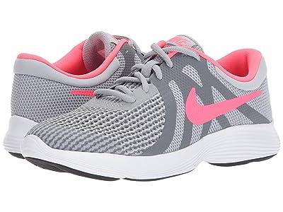 Nike Kids Revolution 4 (Big Kid) (Wolf Grey/Racer Pink/Cool Grey/White) Girls Shoes