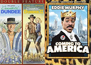 New York Comedy Australian and A Prince - Coming to America + Crocodile Dundee Part 1 & 2 Triple FEAture DVD Pack