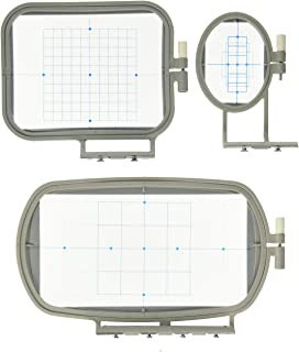 3-Piece Embroidery Hoop Set for Brother Embroidery Machines - SE400 PE500 LB6800 - SE270D SE350 SE400 PE-300S PE-400D PE50...