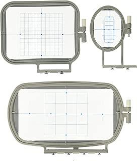 3-Piece Embroidery Hoop Set for Brother Embroidery Machines - SE400 SE425 PE500 LB6800 ---- SE270D SE350 SE400 PE-300S PE-400D PE500 HE-120 HE-240 LB-6770 LB-6800PRW 500D 900D 950D SB7050E