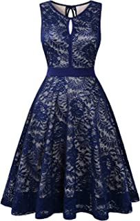 BBX Lephsnt Lace Cocktail Dress for Women, Sleeveless Party Dress A-line Formal Lace Dress