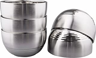 IMEEA Serving Bowls Double-Deck SUS304 Stainless Steel Light Weight BPA Free for Kids, Camping