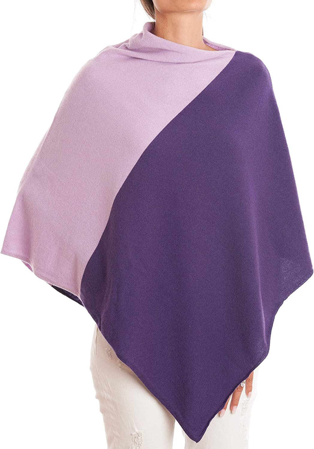 Poncho 100/% Cashmere DALLE PIANE CASHMERE Made in Italy