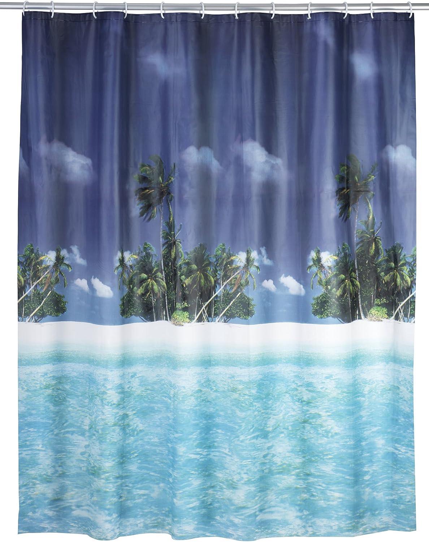 Wenko 19133100 Peva Rideau de Douche Points Dimensions 25 x 3,5 x 38 cm