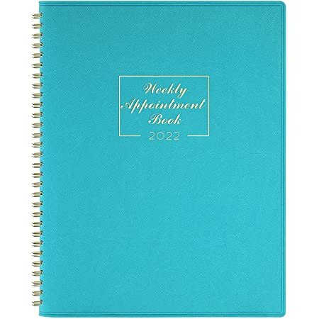 Indeme 2022 Appointment Diary - January 2022-December 2022 with Times, Diary A4 Week to View Hourly Planner in 15 Minutes, 21.8 x 29 cm, Soft Leather Cover, Appointment Book with Ringbound