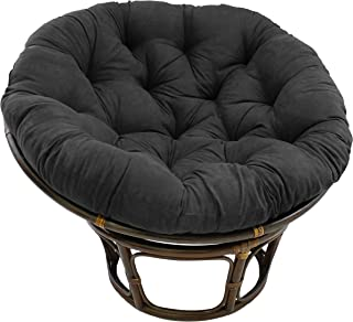 Blazing Needles Solid Microsuede Papasan Chair Cushion, 48