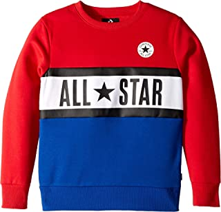 Converse Kids Boy s All Star Paneled Crew (Big ... 273f6a107