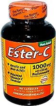 American Health Ester-C with Citrus Bioflavonoids Capsules- 24-Hour Immune Support, Gentle On Stomach, Non-Acidic Vitamin C - Non-GMO, Gluten-Free - 1000 mg, 90 Count, 90 Servings