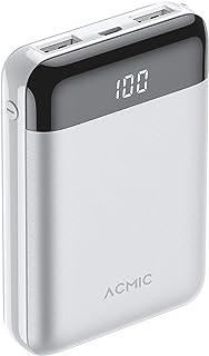 Mini power bank ACMIC power 10000mAh external battery power bank,Portable charger power bank with smart digital display an...