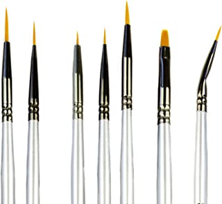 Miniature Paint Brushes - Best Small Detail Paint Brush Set - 7 pcs Model Paint Brushes for Miniature Painting, Fine Detai...