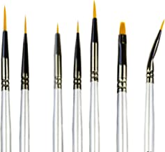Best Model Miniature Paint Brushes - Small Detail Paint Brush Set - 7 pcs Model Paint Brushes for Miniature Painting, Fine Detailing – Tiny, Mini, Micro Fine Detail Paint brushes kits