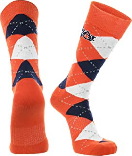 Auburn Tigers Argyle Dress Socks NCAA Fanwear Crew Length