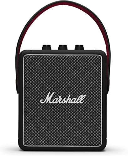 Marshall Stockwell II Portable Wireless Bluetooth Speaker, Water-Resistant with 20+ Hours Playtime and Multi-Directio...