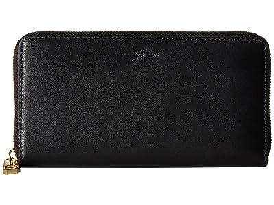 J.Crew Continental Wallet (Black) Handbags