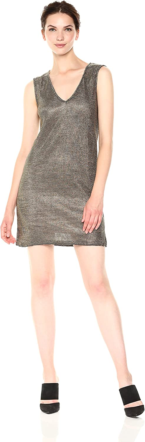 French Connection Womens Leah Metallic Jersey Dress Dress