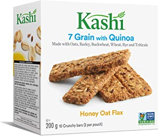 Kashi, 7 Grain, Honey Oat Flax with Quinoa, 10 bars, 200g/7.1oz, Imported from Canada}