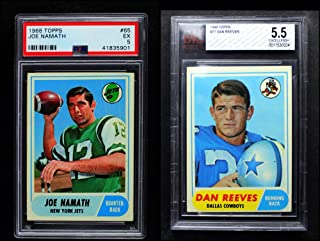 1968 Topps Football Almost Complete Set (Football Set) Dean`s Cards 5 - EX