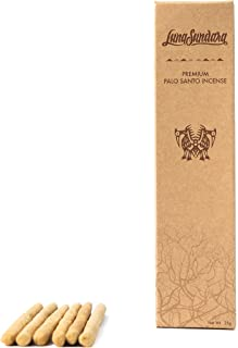 Luna Sundara Premium Palo Santo Hand Rolled Incense Sticks from 100% Wild Peruvian Palo Santo, for Meditation, Relaxation, and Spiritual Cleansing