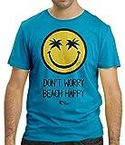Cressi Herren Don't Worry Beach Happy T-Shirt, Blau, S