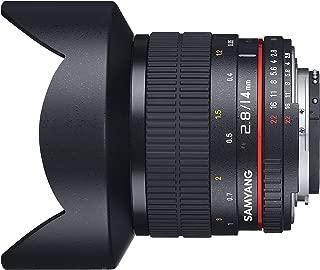 【Amazon.co.jp限定】 SAMYANG 単焦点広角レンズ 14mm F2.8 キヤノンEF用 フルサイズ対応 クリーニングクロスセット