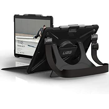 URBAN ARMOR GEAR UAG Microsoft Surface Pro X with Hand Strap & Shoulder Strap Plasma Feather-Light Rugged Ice Military Drop Tested Case