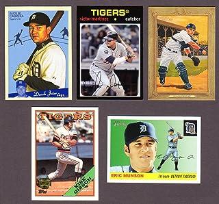Detroit Tigers (5) Card Heros and Hall of Famer REPRINT Baseball Lot #54 (Ivan Rodriguez) (Miguel Cabrera) (Eric Munson Rookie) (Victor Martinez) (Kirk Gibson)