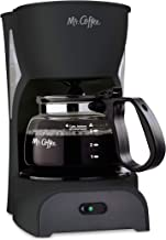 Mr. Coffee Simple Brew Coffee Maker|4 Cup Coffee Machine|Drip Coffee Maker, Black
