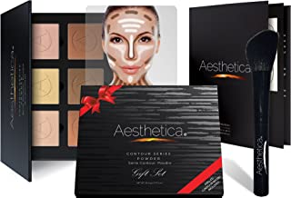 Aesthetica Cosmetics Contour and Highlighting Powder Foundation Palette/Contouring Makeup Kit; Easy-to-Follow, Step-by-Step Instructions Included