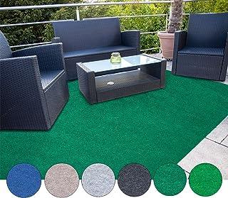 casa pura Estera de césped Artificial Alfombra Exterior Exterior   Adecuado para balcón, terraza y jardín   Múltiples Colores y tamaños   Verde Oscuro - 500x200cm